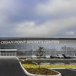 cedar point sports center exterior Parking lot mosser