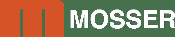MOSSER logo white