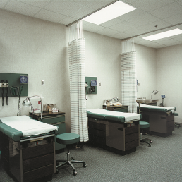 University of Toledo Collier Nursing Building Patient Rooms