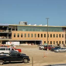 Maurer Center construction Mosser Parking Lot