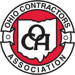 Ohio Contractors Association Black and Red