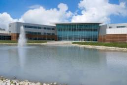 Penta Career Center Exterior Pond