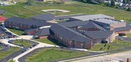 Drone Footage Rogers High School Toledo Ohio Exterior